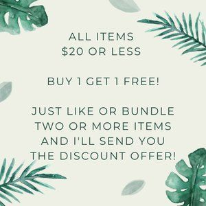 All items $20 and under B1G1 Free